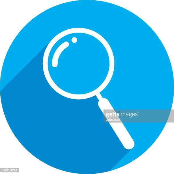 Magnifying Glass Icon Silhouette