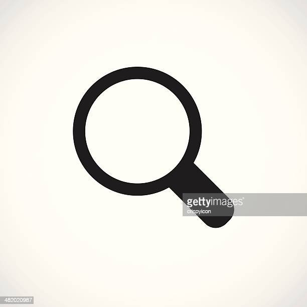 magnifying glass icon - searching stock illustrations