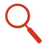 Magnifying glass icon vector search icon isolated on white
