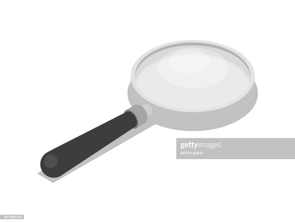 Magnifying glass isolated 3d isometric icon