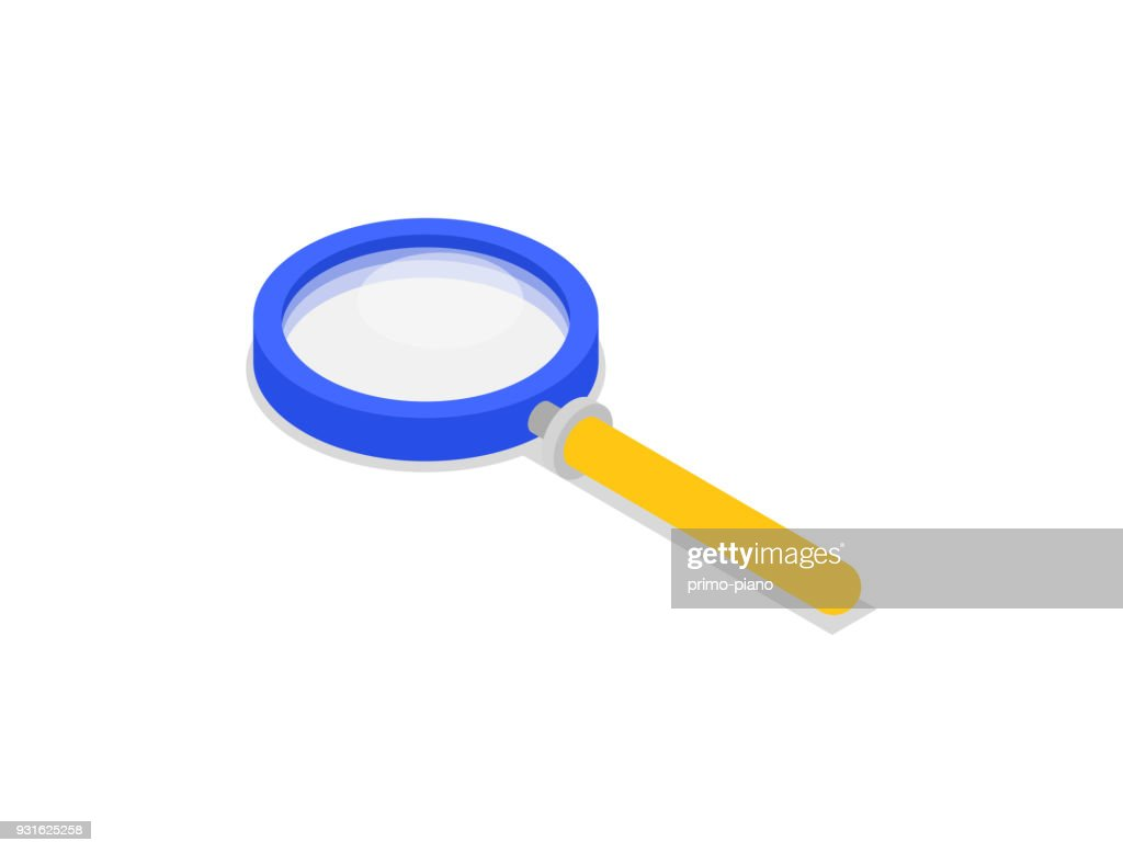 Magnifying glass isolated isometric icon