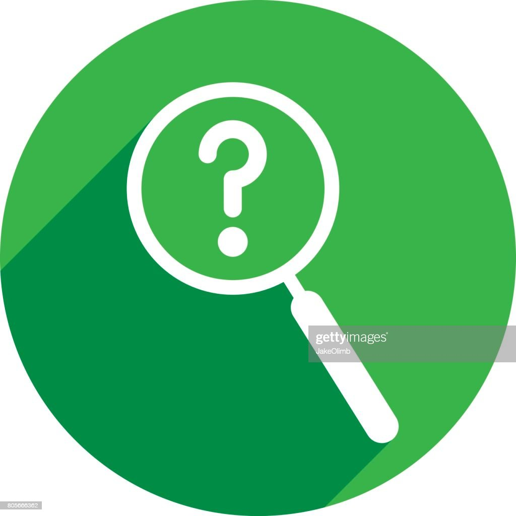 Magnifying Glass Question Mark Icon Silhouette
