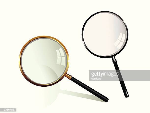 magnifying glass - collection stock illustrations, clip art, cartoons, & icons
