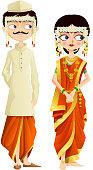 Maharashtrian Wedding Couple