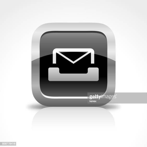 Mail and Mailbox Glossy Button Icon