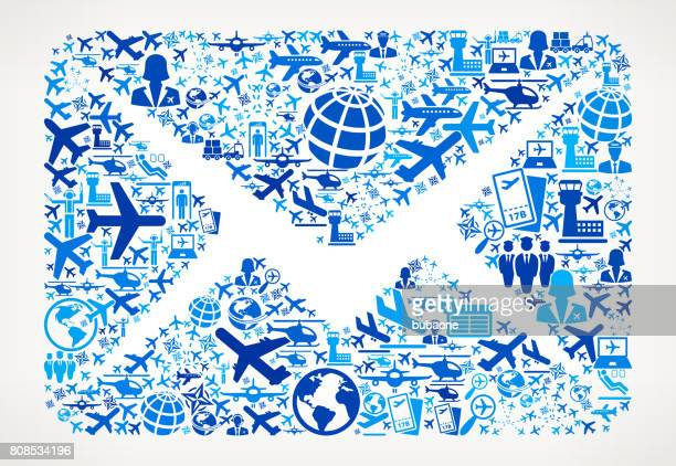 Mail Aviation and Air Planes Vector Graphic