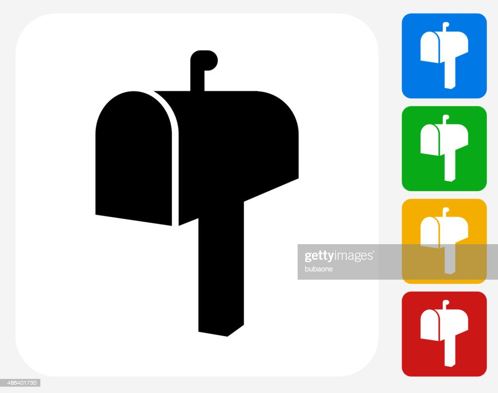 Mail Box Icon Flat Graphic Design