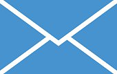 Mail envelope icon, modern minimal flat design style