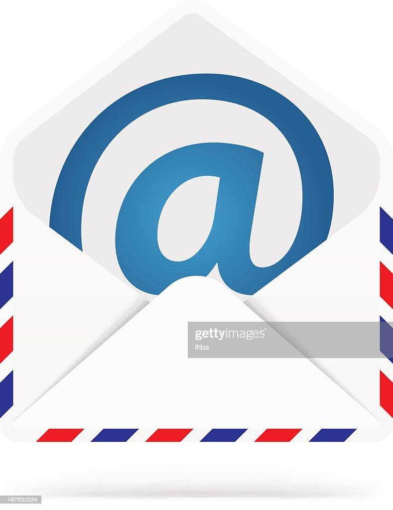 Mail envelope icon. Web element
