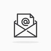 Mail icon in line style.