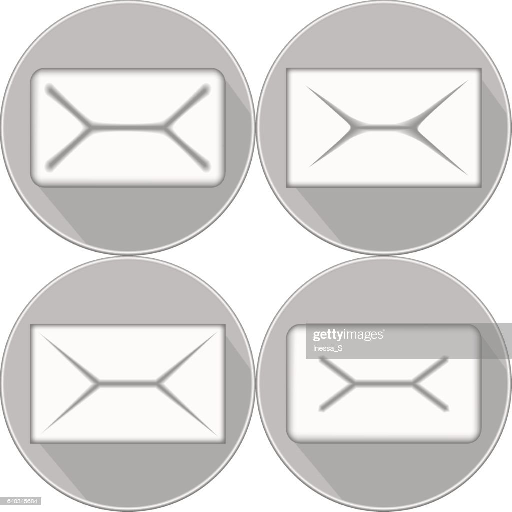 mail icon in shades of grey