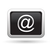 E mail icon on the round button