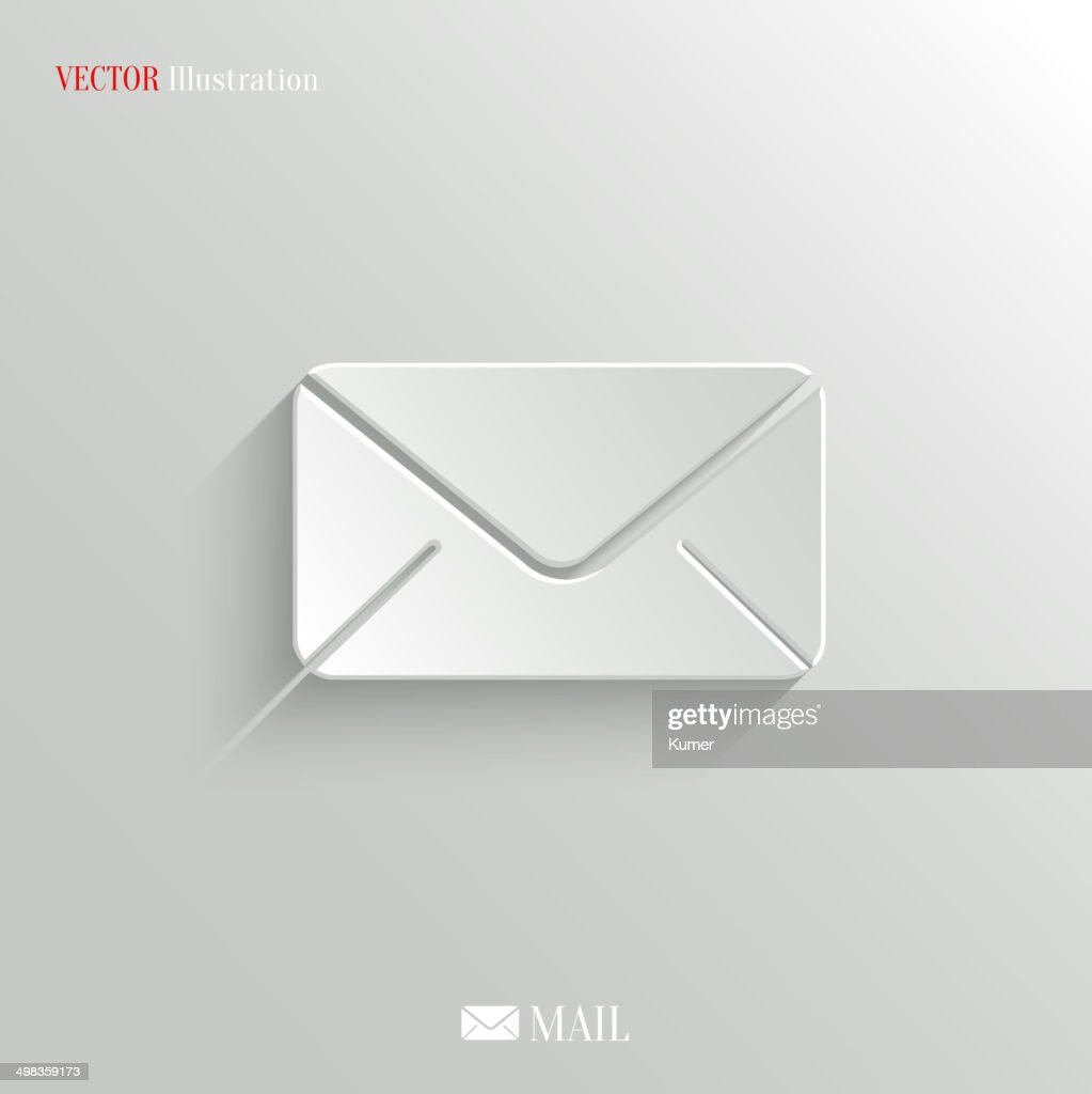 Mail icon - vector web background