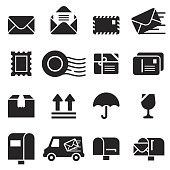 Mail Icons [Black Edition]