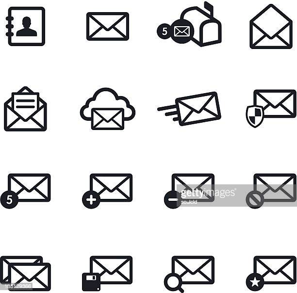 mail icons - sending stock illustrations