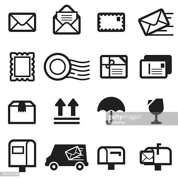 mail icons - sentando stock illustrations