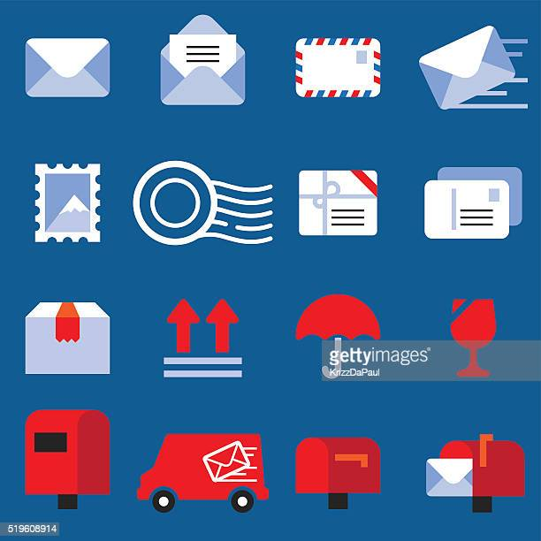 mail icons - mail stock illustrations