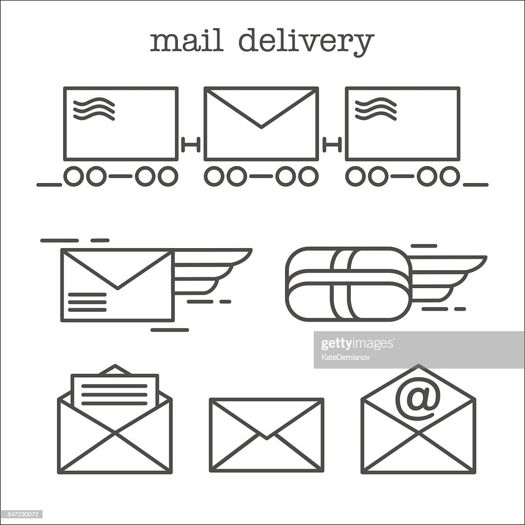 Mail. Letter, parcel, mail. E-mail. Fast delivery of letters.