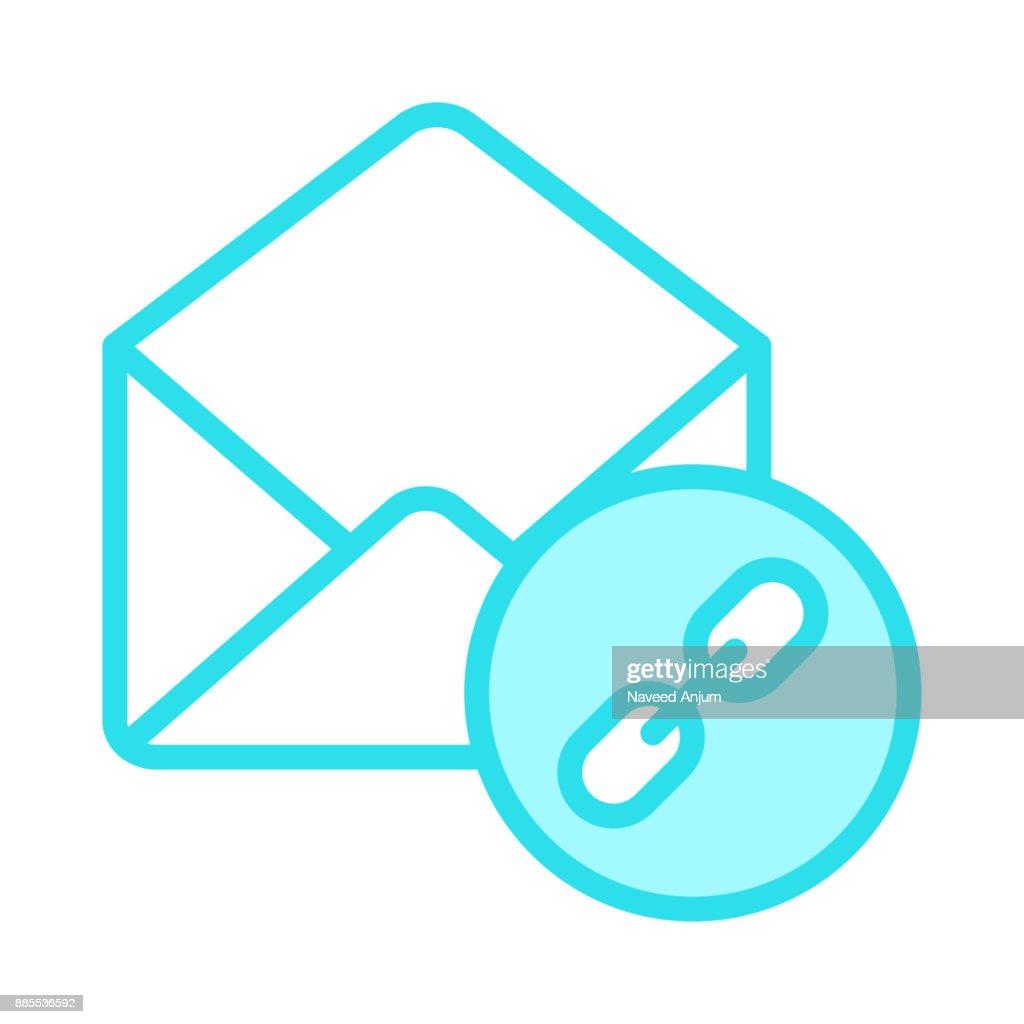 mail link colour line icon