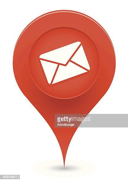 mail pointer symbol - post office stock illustrations, clip art, cartoons, & icons