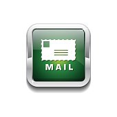 Mail Sign Green Vector Icon Button