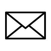 mail Thin Line Vector Icon