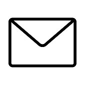Mail Thin Line Vector Icons