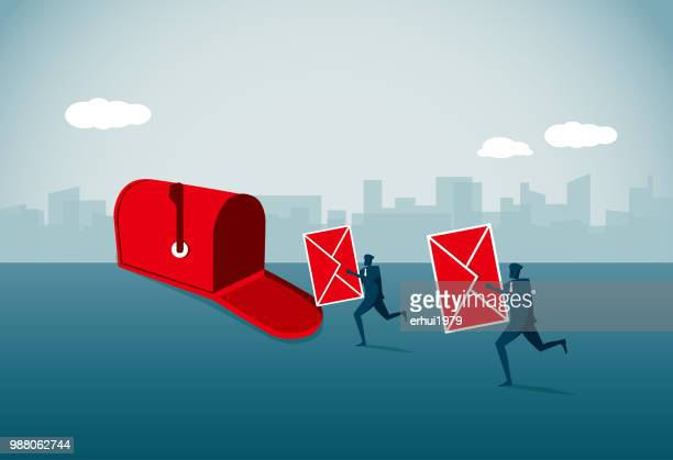 mail - outbox filing tray stock illustrations