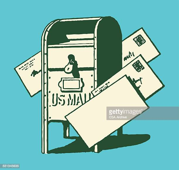 illustrations, cliparts, dessins animés et icônes de boîte aux lettres et courrier - facteur