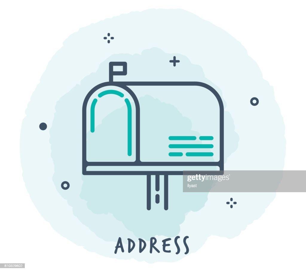 Mailbox Line Icon