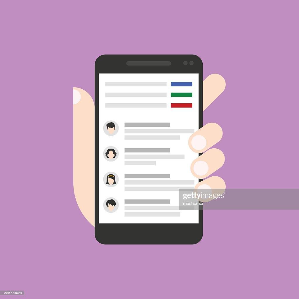 Mailbox on smartphone