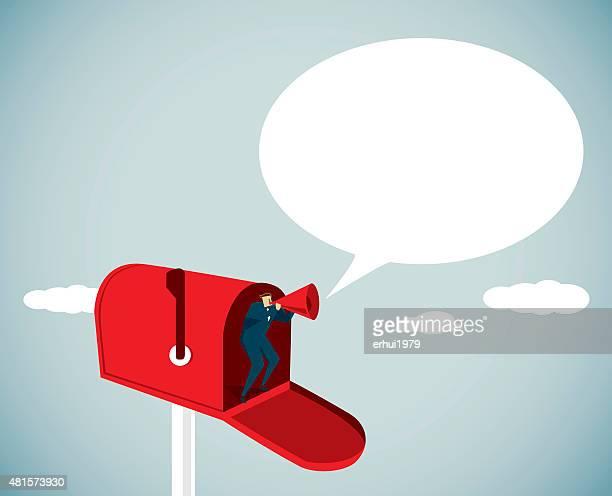 メールボックス - 発送書類入れ点のイラスト素材/クリップアート素材/マンガ素材/アイコン素材