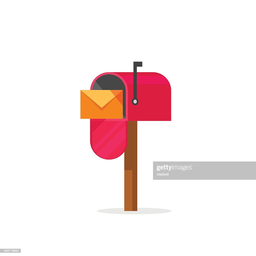 Mailbox vector illustration isolated, post office box