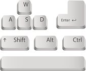 Main keyboard buttons.
