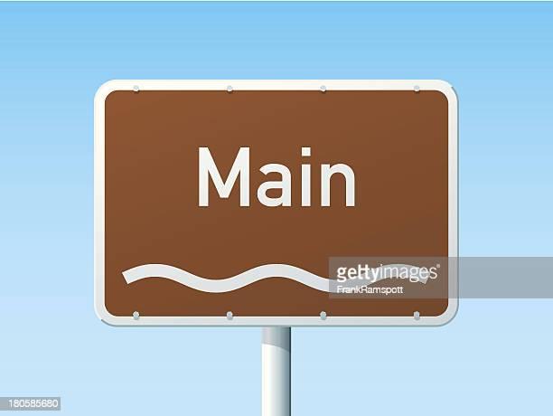 Main deutsche Road Sign