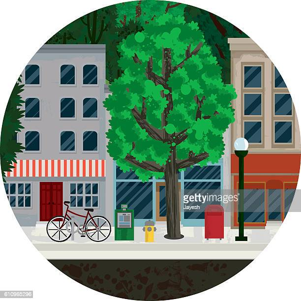 Main Street Illustration