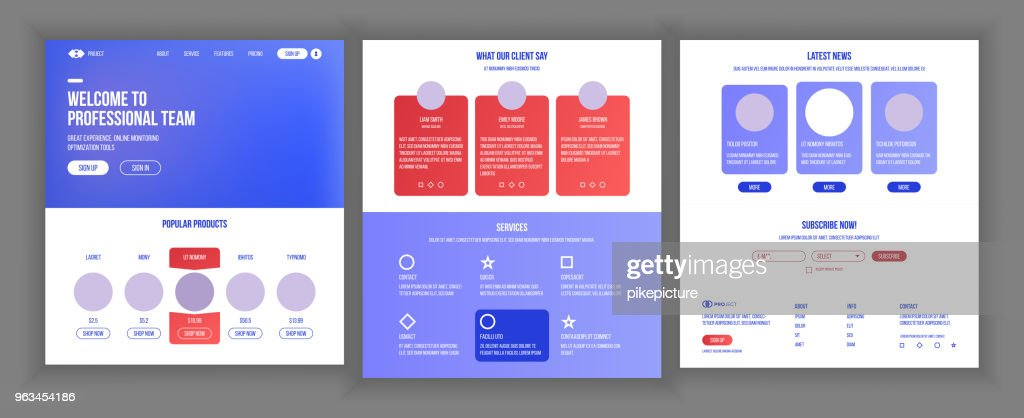 Main Web Page Design Vector. Website Business Screen. Landing Template. Innovation Idea. Engineer Device. Progress Report. Business Success. Illustration