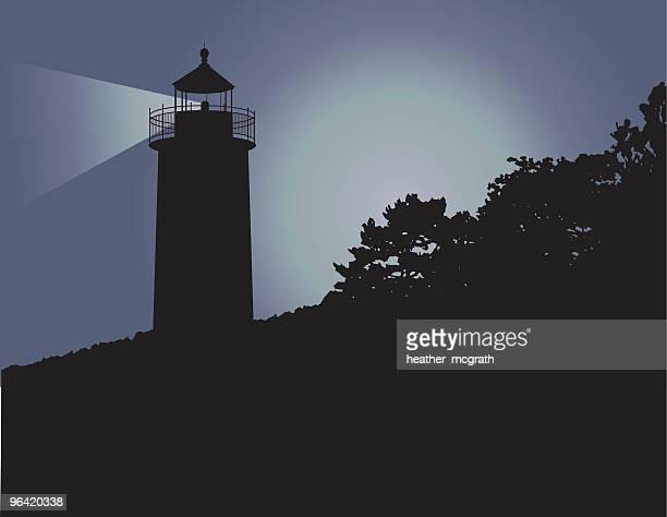 maine lighthouse - us marine corps stock illustrations, clip art, cartoons, & icons