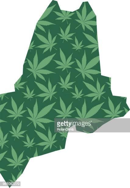 maine marijuana leaves pattern - hashish stock illustrations, clip art, cartoons, & icons