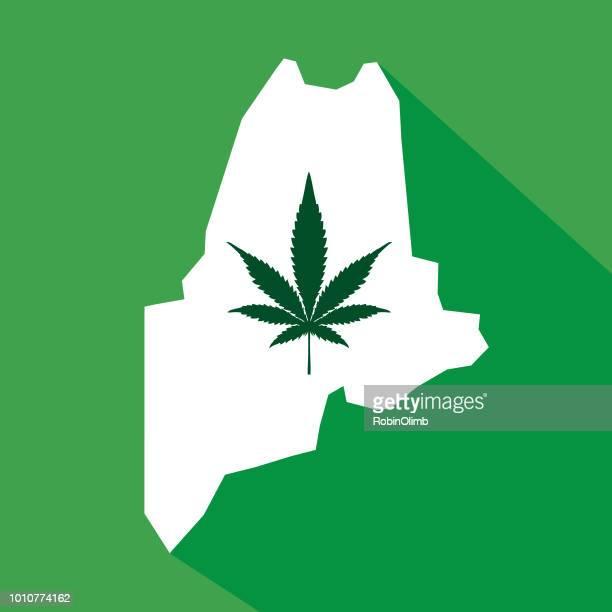 maine state marijuana map - augusta maine stock illustrations