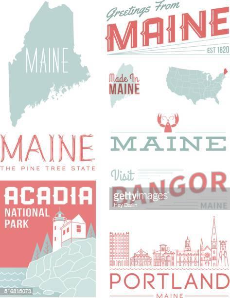 Maine Typography