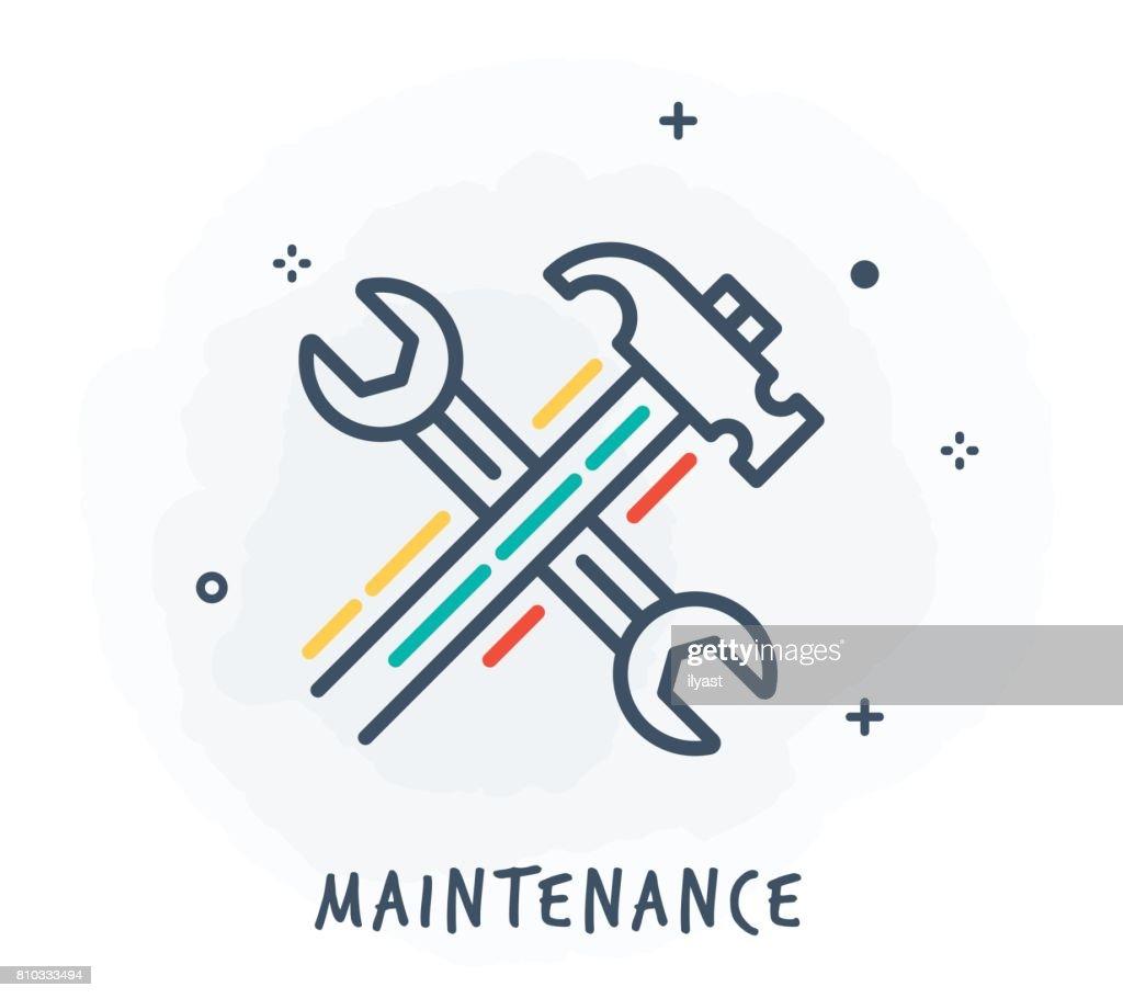 Maintenance Line Icon : stock illustration