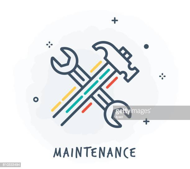 Maintenance Line Icon