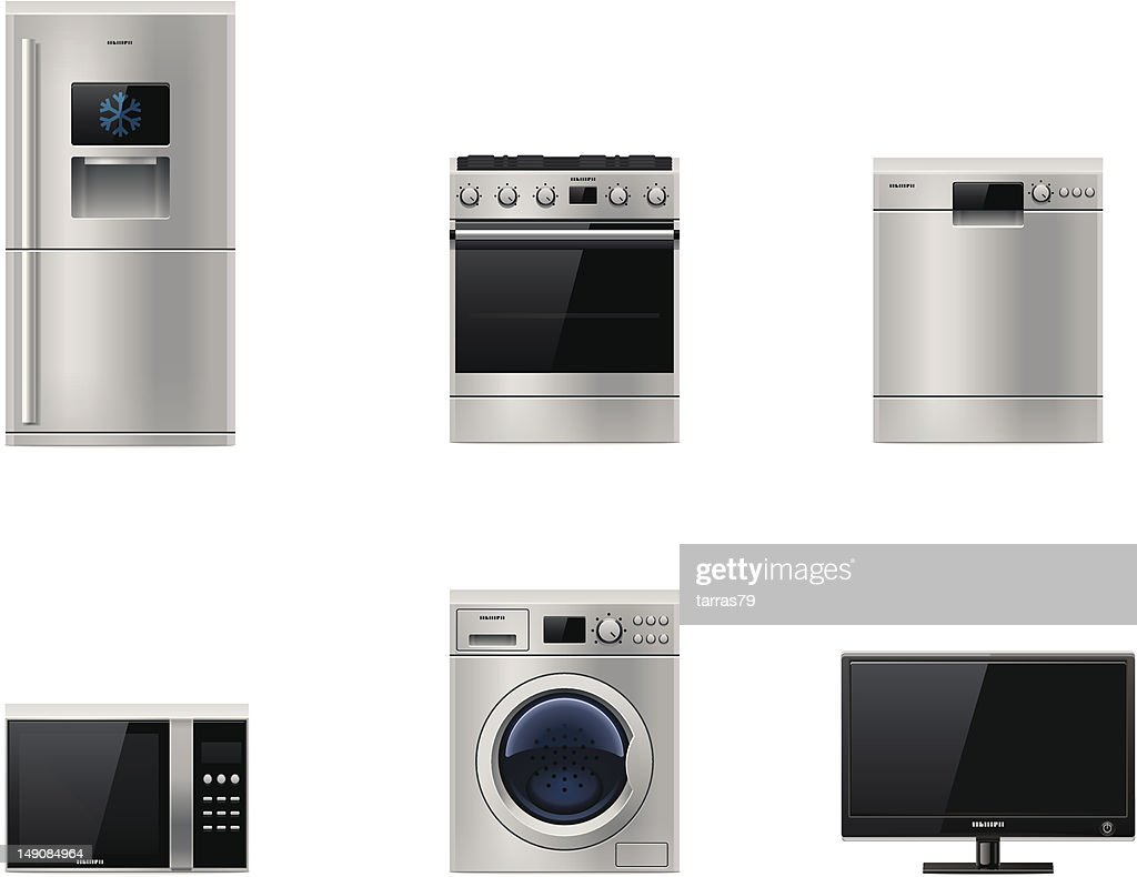 Major appliances set