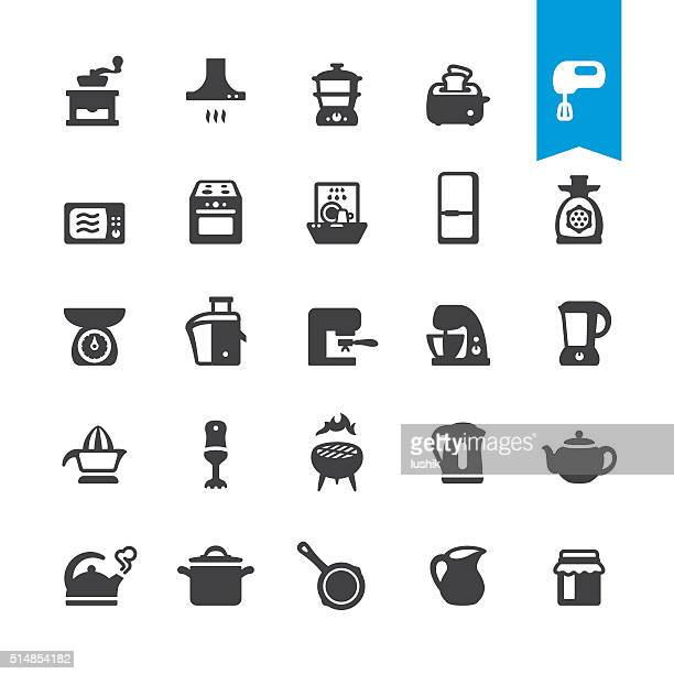 major kitchen appliance vector icons - exhaust fan stock illustrations, clip art, cartoons, & icons