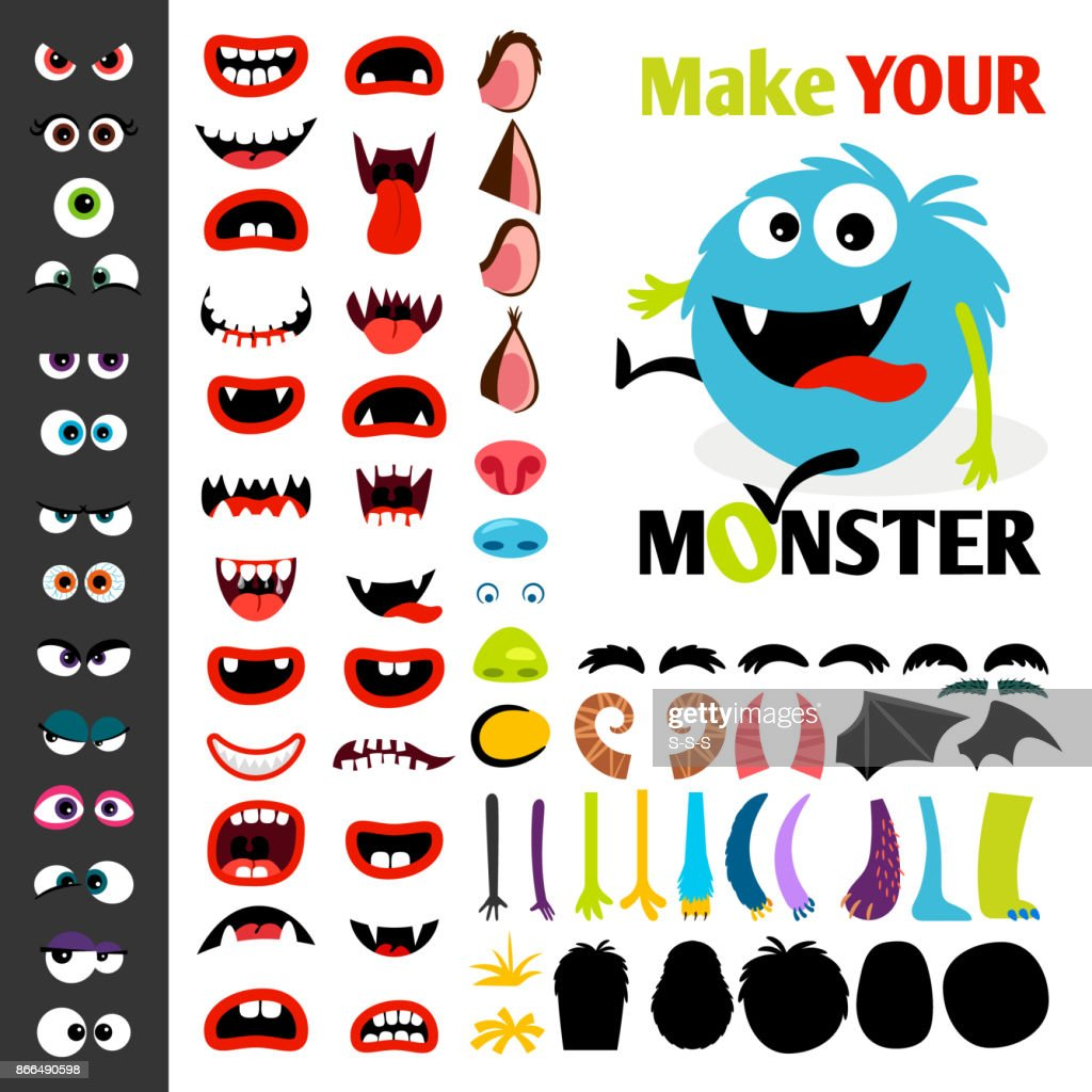 Make a monster icons set