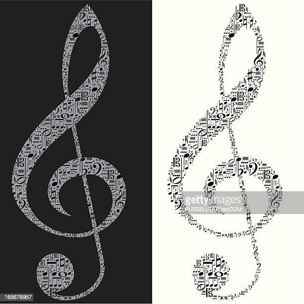 make a note of this please - treble clef stock illustrations, clip art, cartoons, & icons