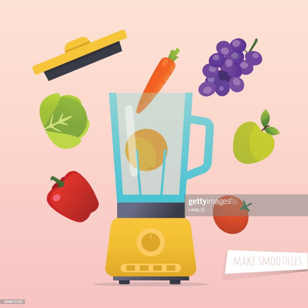 Make a smoothie. Different ingredients for smoothie.