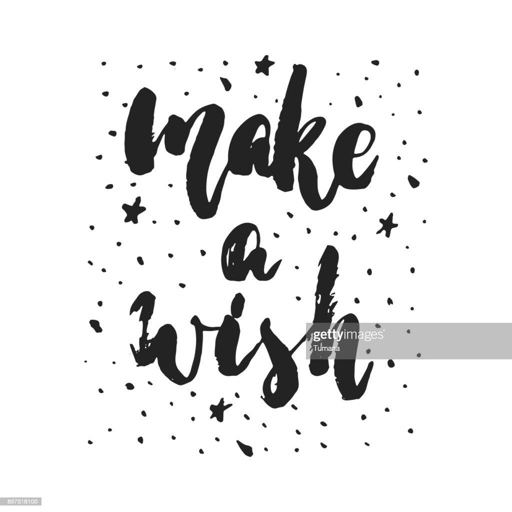 Make A Wish Hand Drawn Christmas And New Year Winter Holidays