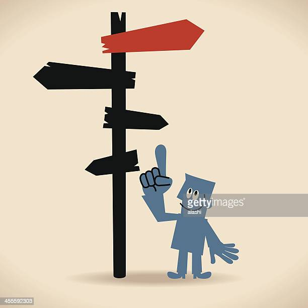make better decisions - directional sign stock illustrations